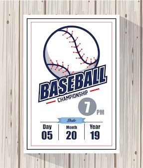 Tarjeta de campeonato de beisbol