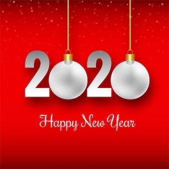 Tarjeta de celebración de año nuevo 2020