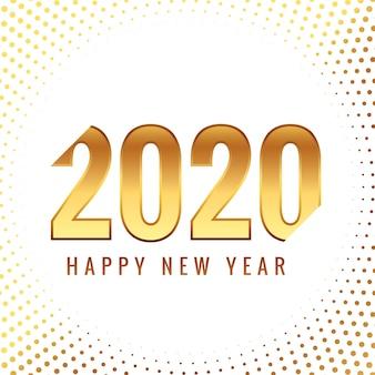 Tarjeta de celebración de año nuevo dorado creativo 2020