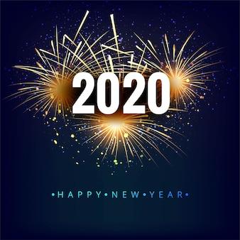 Tarjeta de celebración de año nuevo hermoso festival 2020