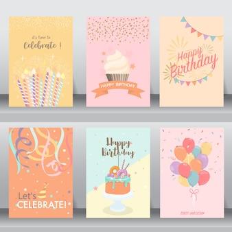 Tarjeta de celebración de feliz cumpleaños