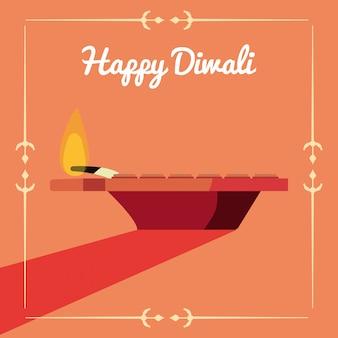 Tarjeta de celebración feliz diwali