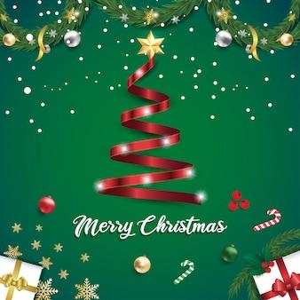 Tarjeta de celebración feliz navidad