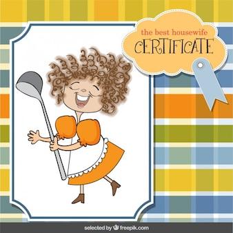 Tarjeta de certificado de ama de casa