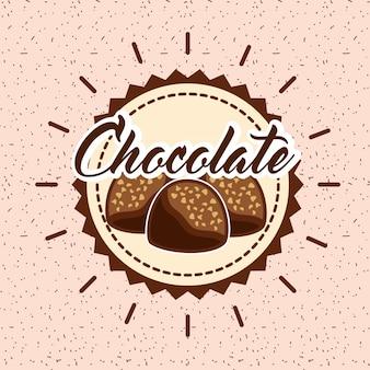 Tarjeta de chocolate cacao