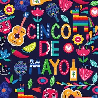 Tarjeta de cinco de mayo de mexico