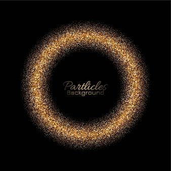 Tarjeta de círculo de brillos dorados