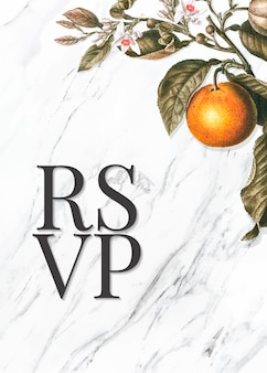 Tarjeta citrus rsvp
