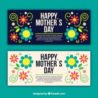 Tarjeta colorida de flores del día de la madre