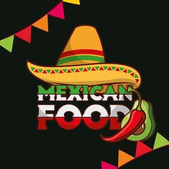 Tarjeta de comida mexicana