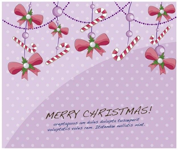 Tarjeta con decoración navideña