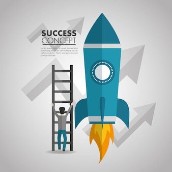Tarjeta de concepto de éxito