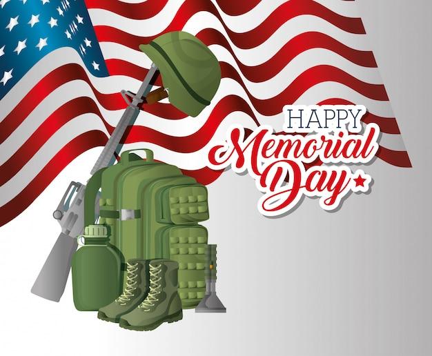 Tarjeta conmemorativa del día con la guerra de rifle