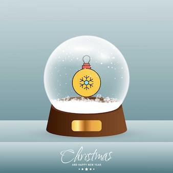 Tarjeta de copo de nieve de navidad