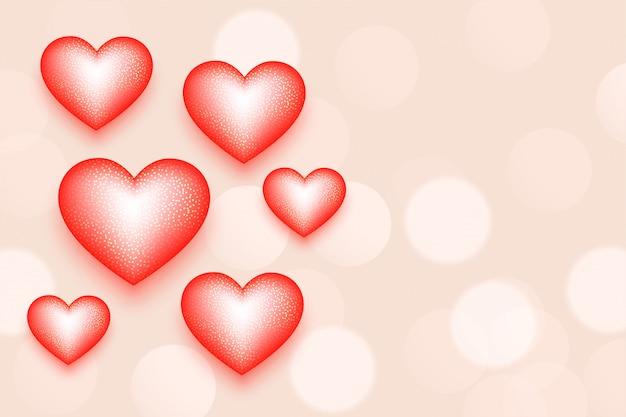 Tarjeta de corazones de dulce día de san valentín con espacio de texto
