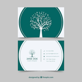 Tarjeta corporativa con árbol