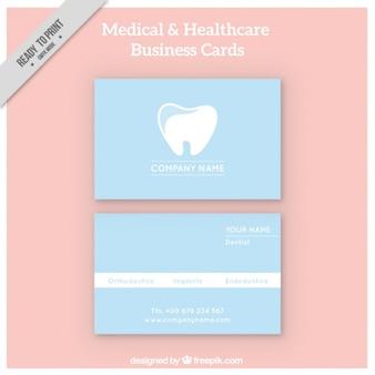 Tarjeta corporativa de dentista