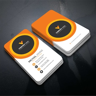Tarjeta corporativa elegante naranja