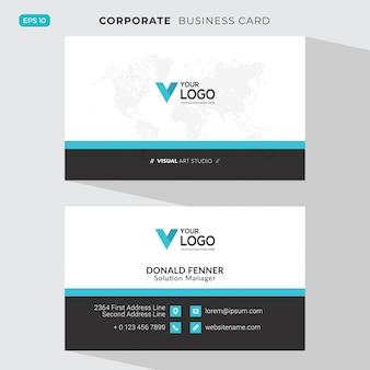 Tarjeta corporativa elegante