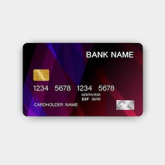 Tarjeta de crédito. con inspiración de lo abstracto.