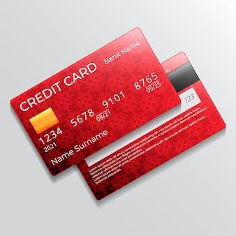 Tarjeta de crédito monocromática realista