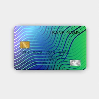 Tarjeta de crédito realista