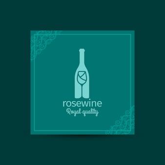 Tarjeta cuadrada de calidad real rosewine