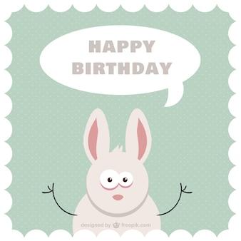 Tarjeta de cumpleaños con conejo