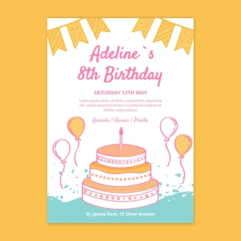 Tarjeta de cumpleaños para niños