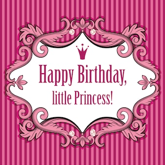Tarjeta de cumpleaños para princesita