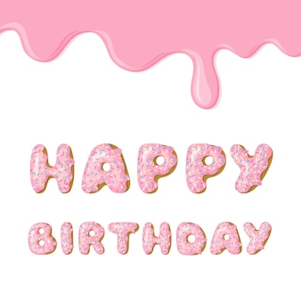 Tarjeta de cumpleaños rosada linda.