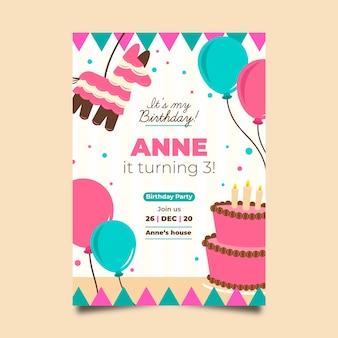Tarjeta de cumpleaños para tema infantil