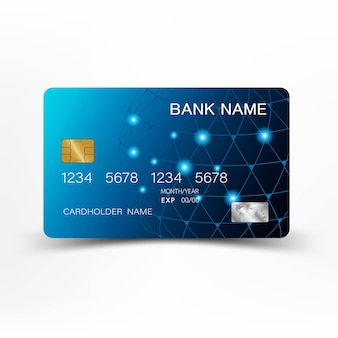 Tarjeta de crédito azul