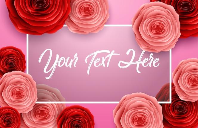 Tarjeta de felicitación del día de las mujeres con fondo de flores