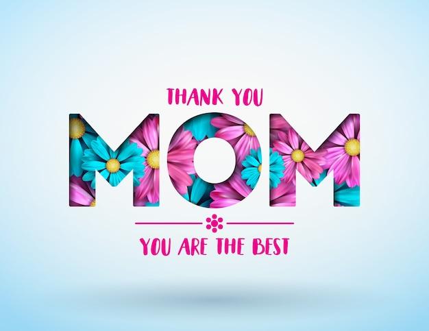 Tarjeta de felicitación feliz del día de madres