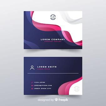 Tarjeta de negocios abstracta con diseño colorido
