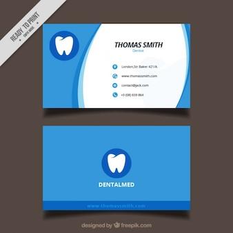 Tarjeta de negocios de clínica dental