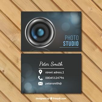 Tarjeta de negocios de estudio de foto