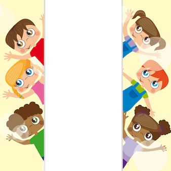 Tarjeta de niños felices