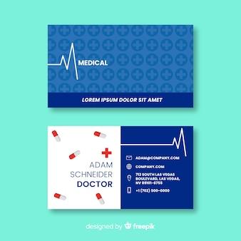 Tarjeta de visita con concepto médico en estilo moderno