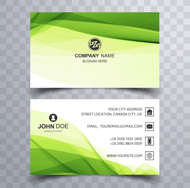 Tarjeta de visita corporativa verde