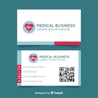 Tarjeta de visita creativa con concepto médico