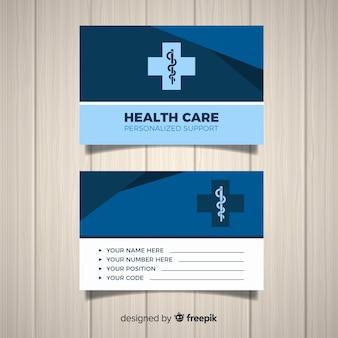 Tarjeta de visita profesional con concepto médico