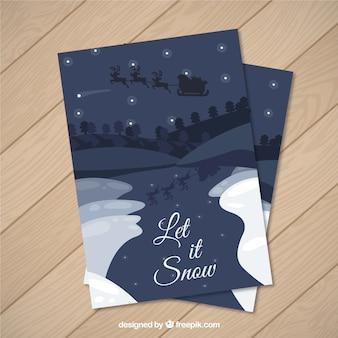Tarjeta deja que nieve
