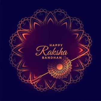 Tarjeta de deseos decorativos del festival raksha bandhan