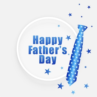 Tarjeta de deseos del día del padre con corbata y estrellas.