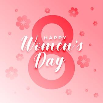 Tarjeta de deseos de flores del día de la mujer 8 de marzo