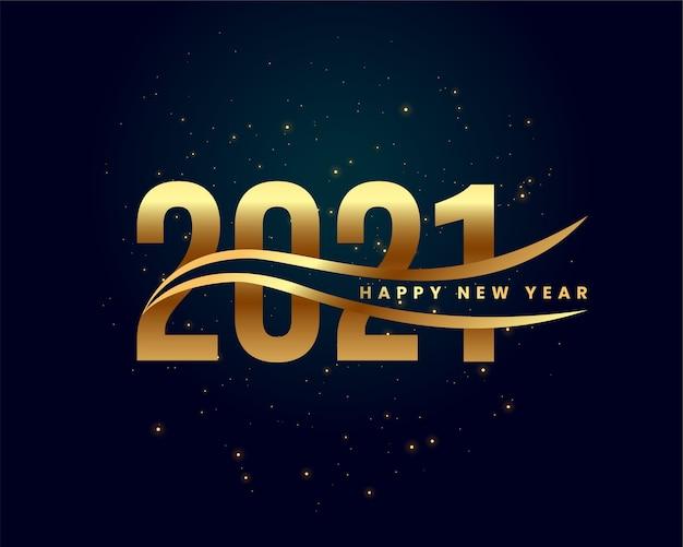 Tarjeta de deseos de oro abstracto feliz año nuevo 2021