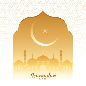 Tarjeta de deseos tradicionales de la temporada de festivales de ramadan kareem