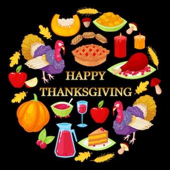 Tarjeta para el día de acción de gracias
